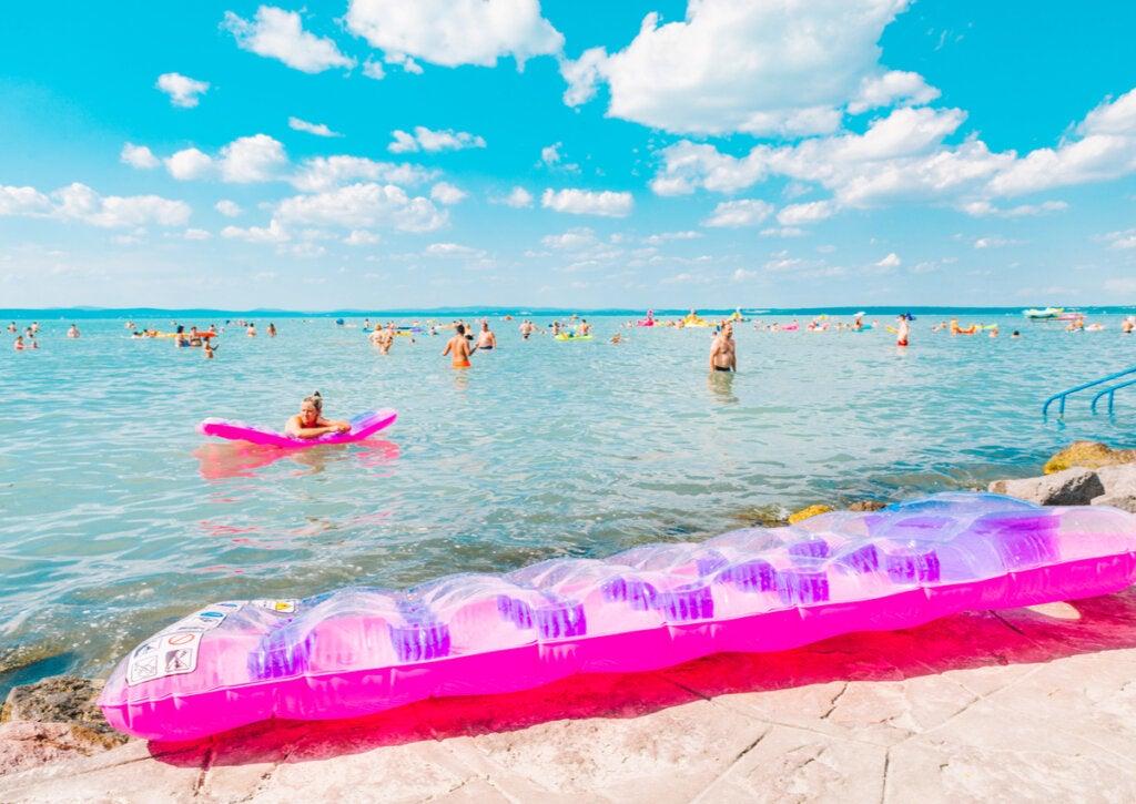 Un verano en el lago Balatón.