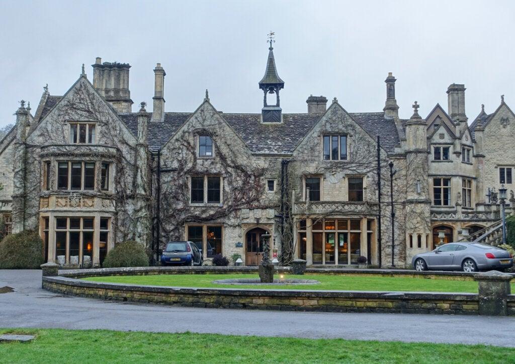 Casa señorial transformada en hotel en Castle Combe.