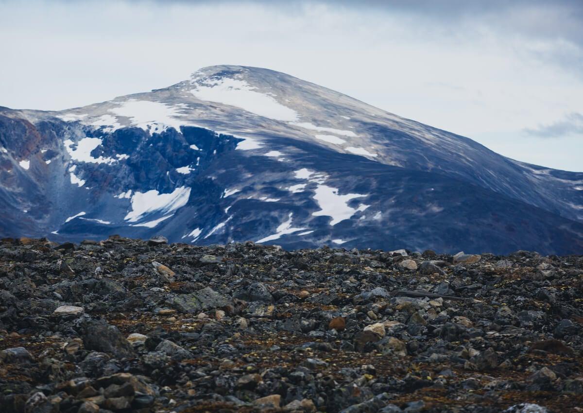 Galdhopiggen es la montaña más alta de Noruega.