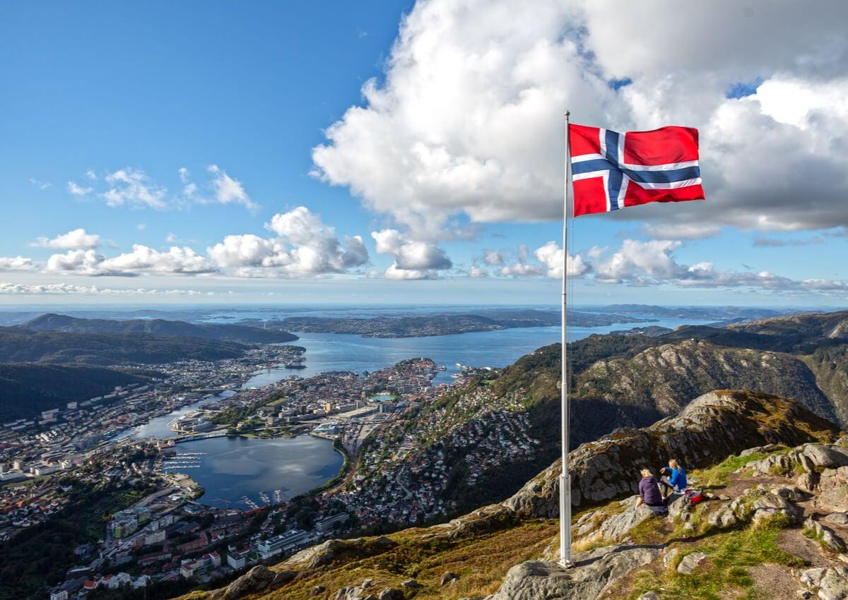 El monte Floyen es uno de los más visitados de Noruega.