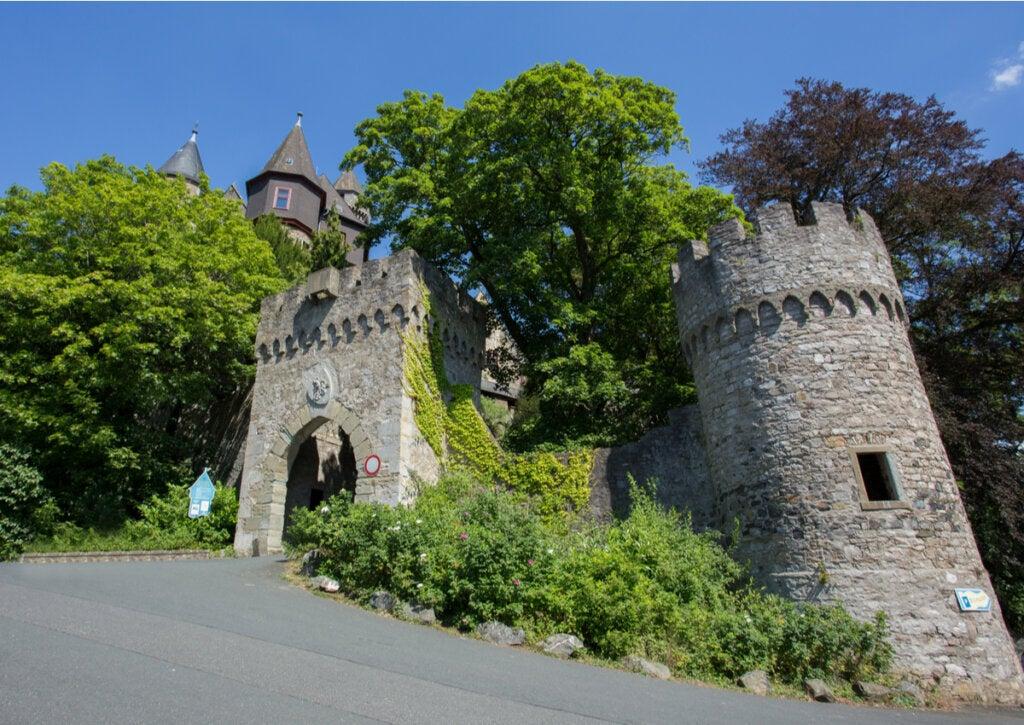 Una de las torres de vigilancia en el castillo de Braunfels.