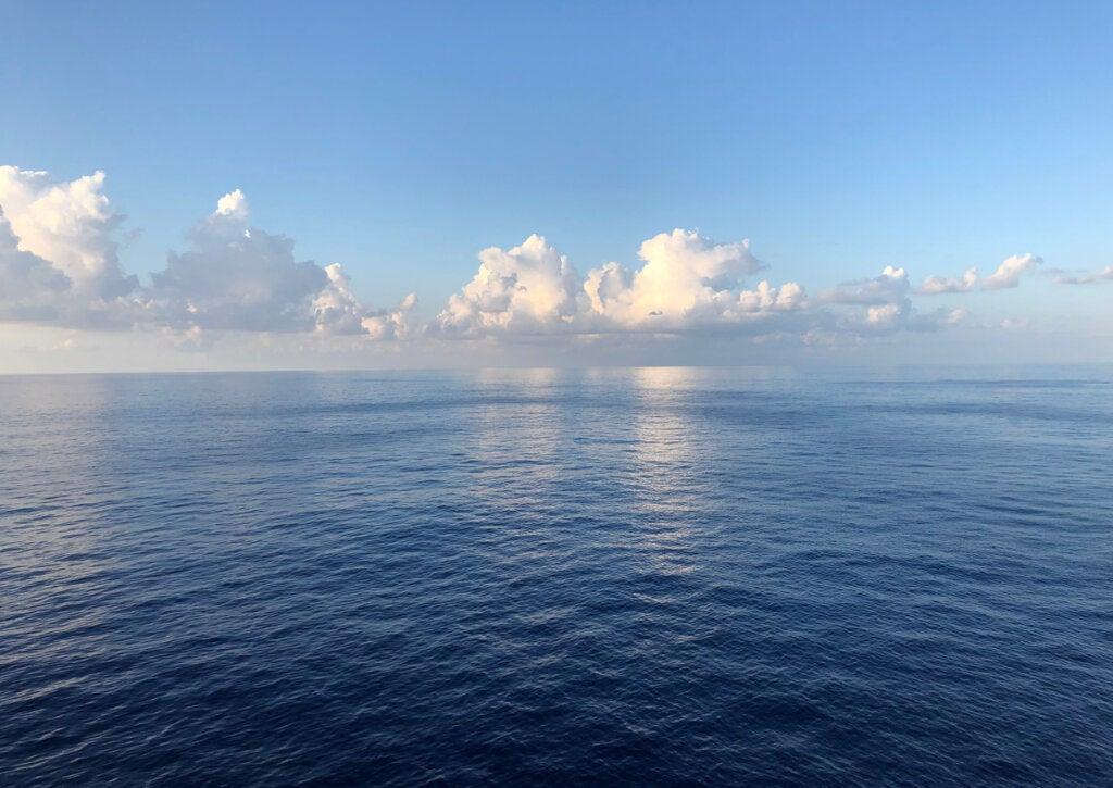 Vista del Triángulo de las Bermudas desde la isla.