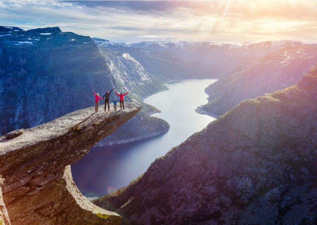 Las montañas de Noruega, lugares realmente mágicos