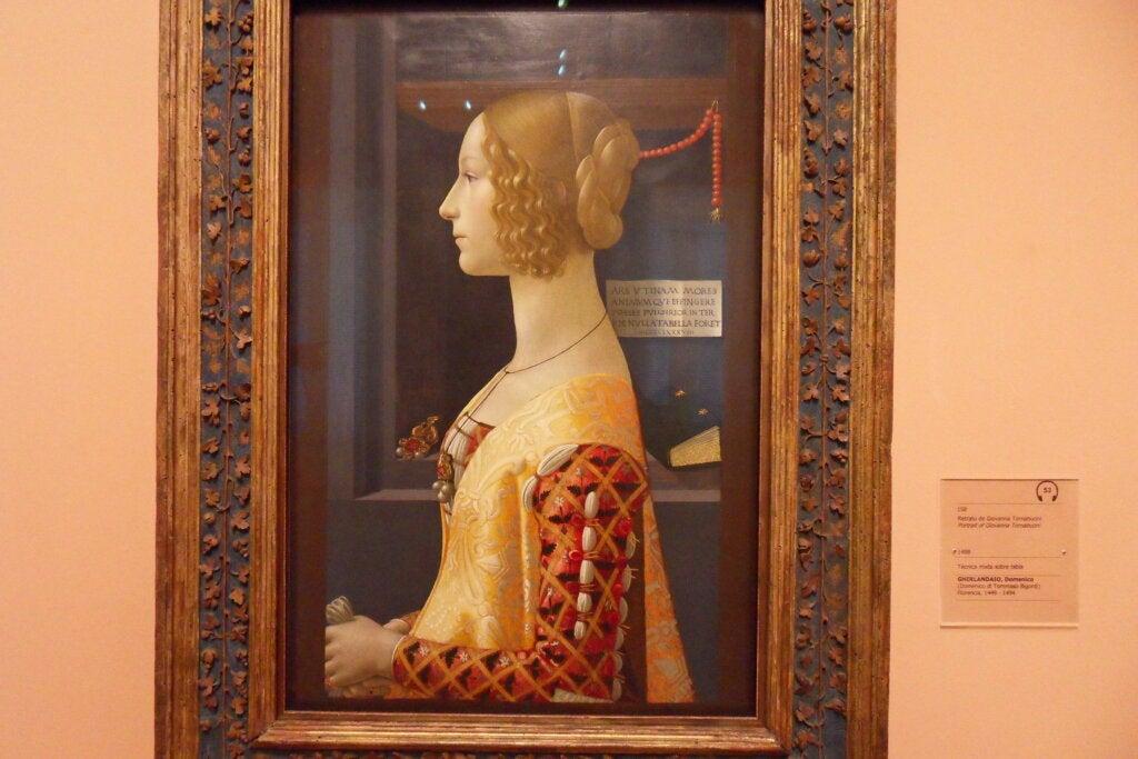 La historia del retrato de Giovanna Tornabuoni