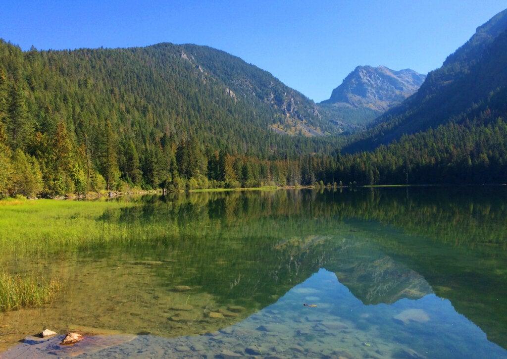 El lago Flathead tiene las aguas más cristalinas del mundo.