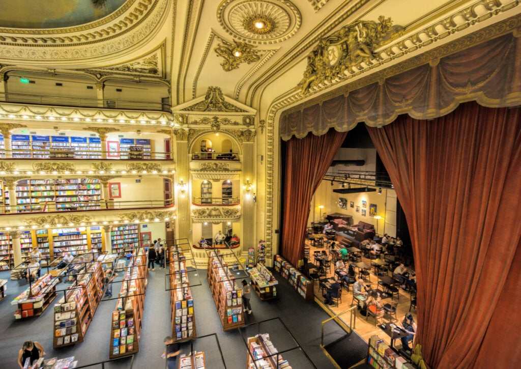 La librería El Ateneo Grand Splendid fue en su momento un teatro.