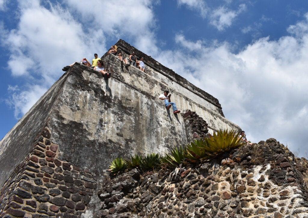 La pirámide que rinde homenaje a Tepoztecatl, en Tepoztlán.
