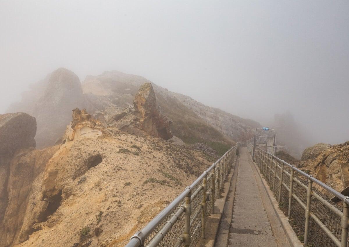Point Reyes es uno de los lugares con más niebla del mundo.