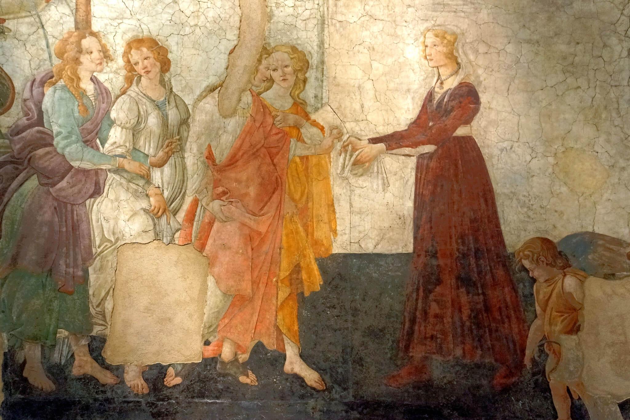 Se cree que Domenico Ghirlandaio pintó a Giovanna Tornabuoni en varias de sus obras.