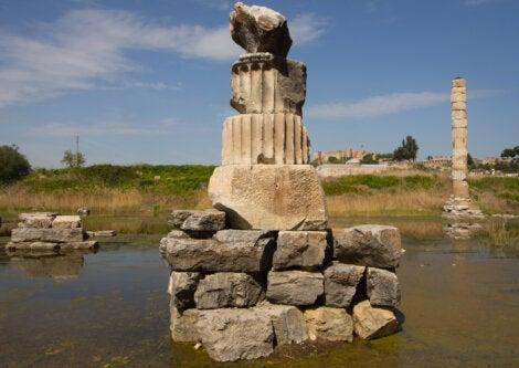 El Templo de Artemisa fue una de las grandes construcciones de la Antigüedad.