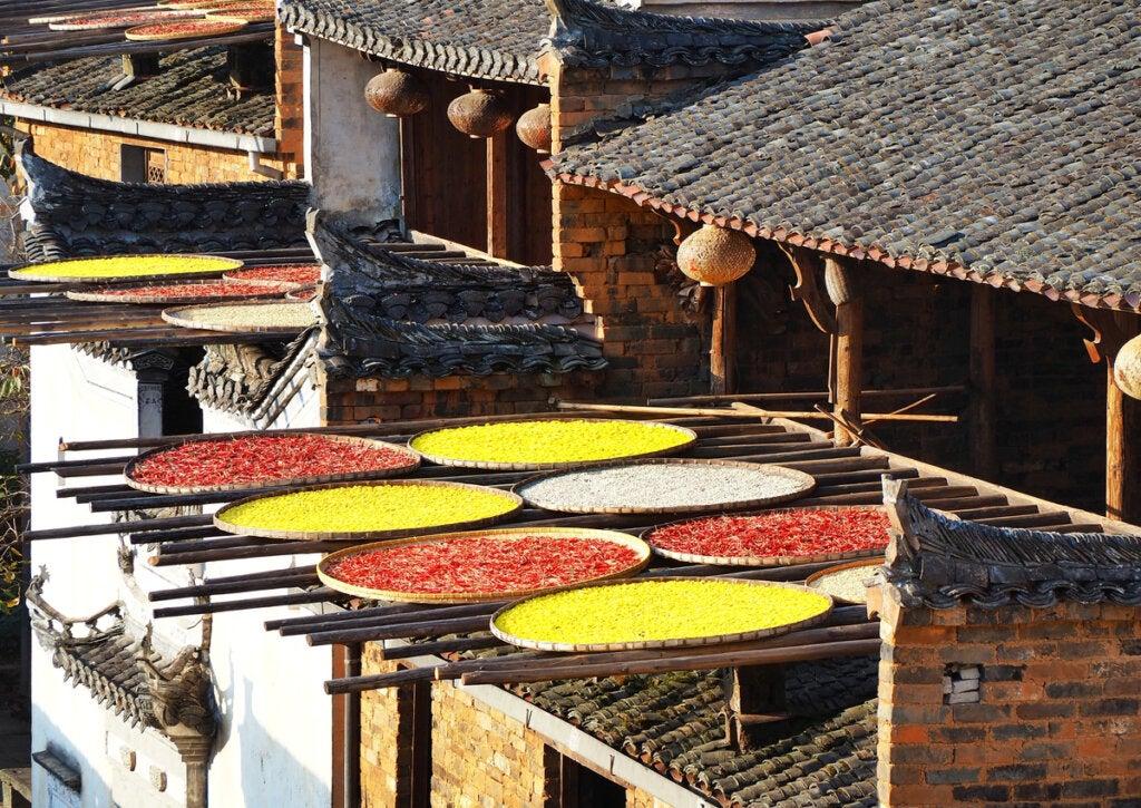 La economía de Huangling se basa en la venta de vegetales.
