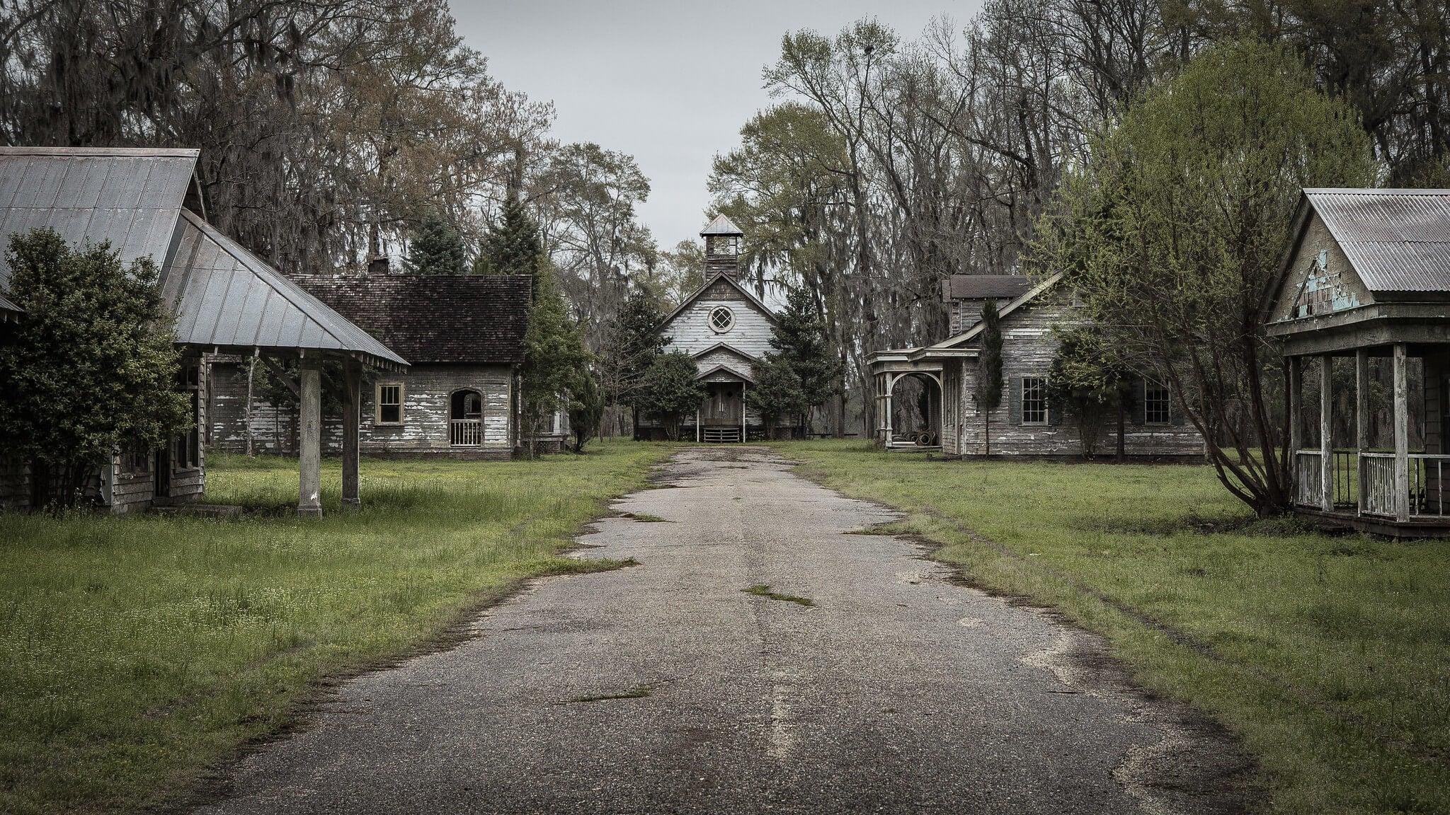 La ciudad abandonada de Spectre, en Alabama.