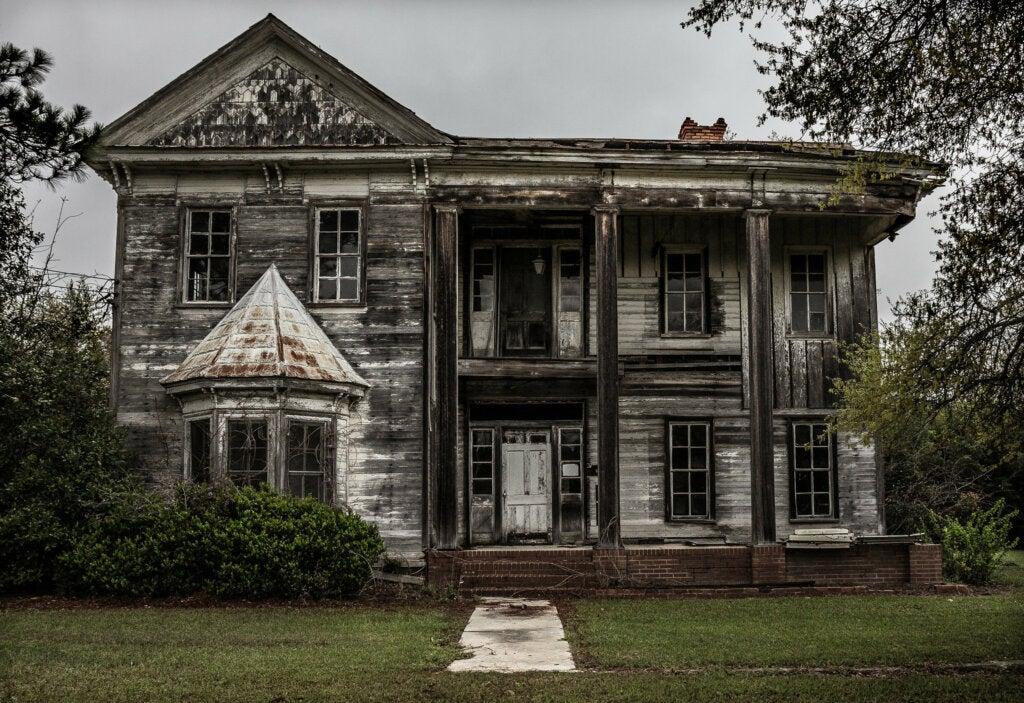 Casa abandonada en el pueblo de Spectre, Alabama.