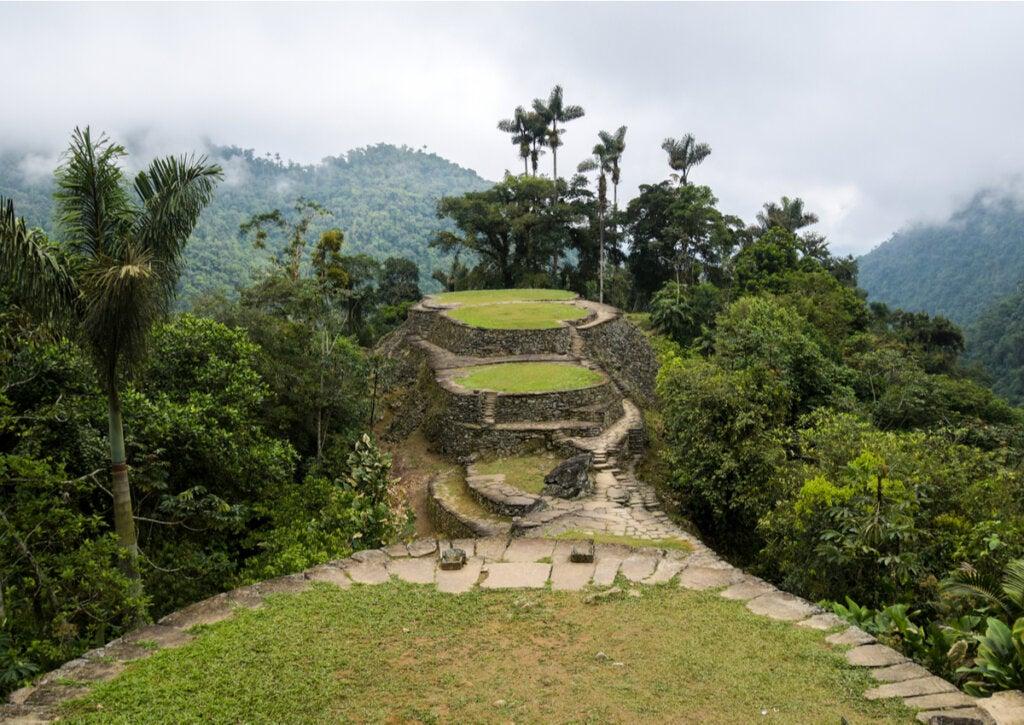Las terrazas verdes son una característica de Teyuna.