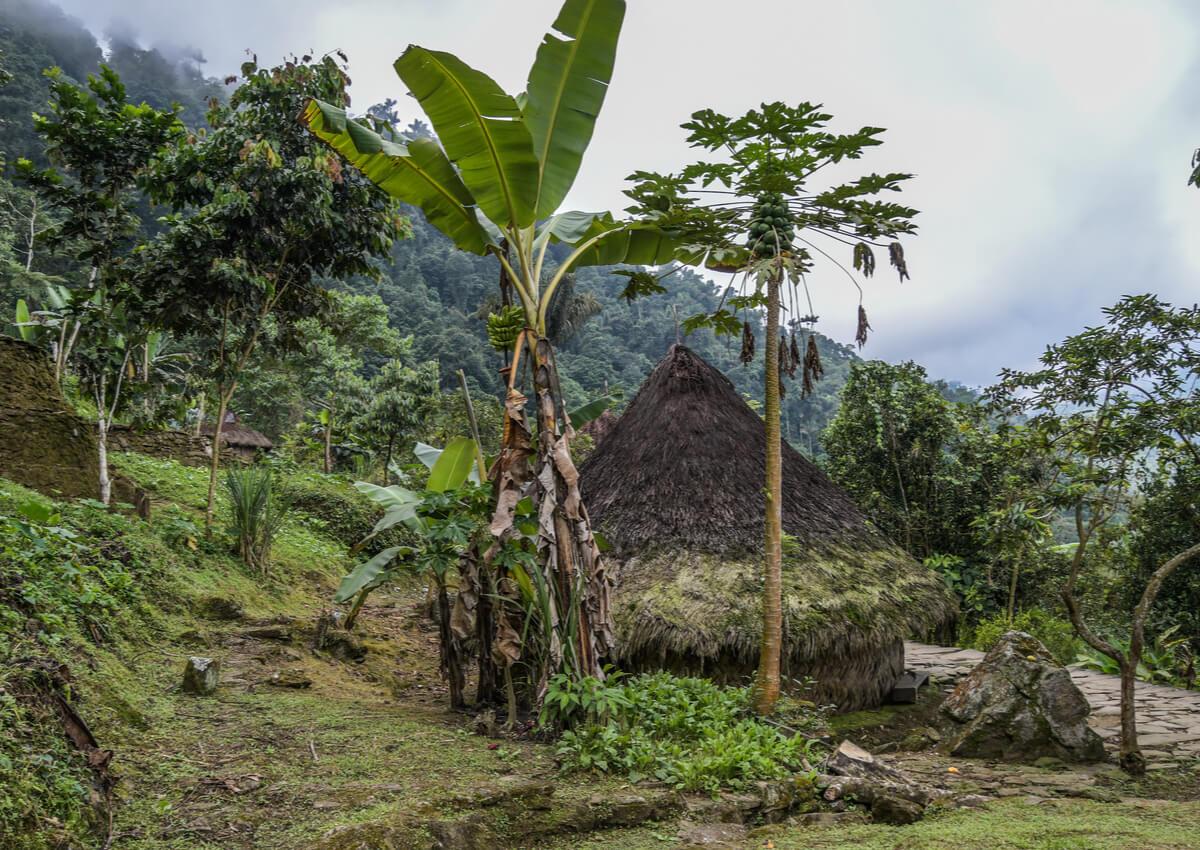 Vivienda en la ciudad de Teyuna, Colombia.