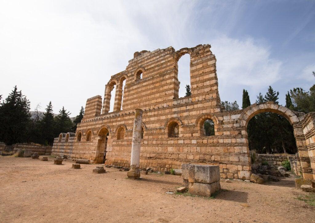 El Gran Palacio era la construcción destacada en Anjar.