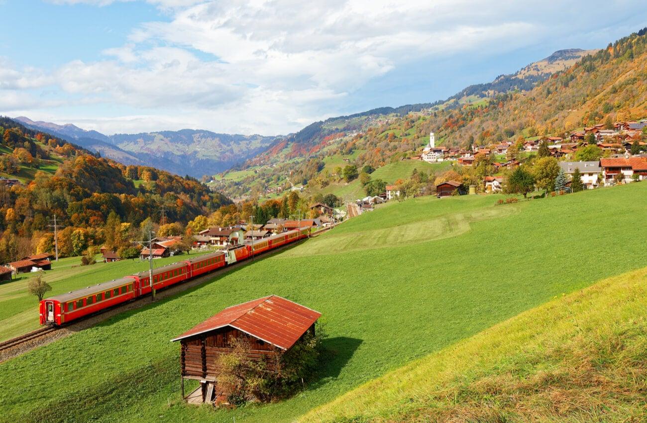 El cantón Grisones en Graubünden es uno de los más bellos de Suiza.