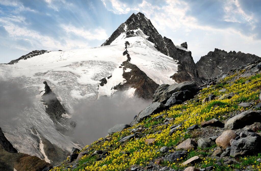 Grossglockner es la montaña más alta de Austria.