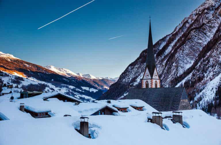 Invierno en la fría y hermosa Heiligenblut