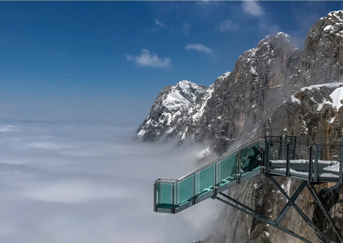 Hunerkogel, en los Alpes austríacos, es uno de los miradores más famosos del mundo.