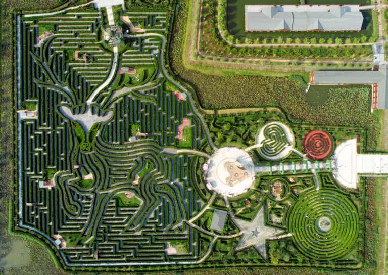 El laberinto Yancheng Dafeng Dream, el más grande del mundo