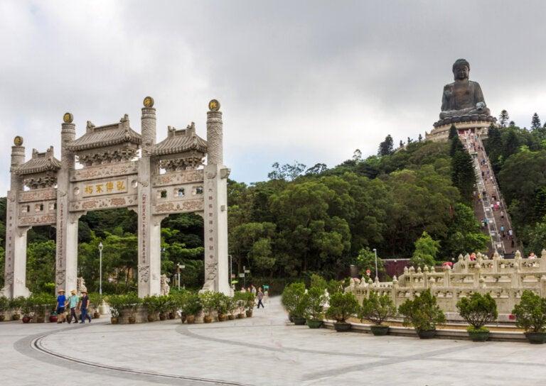 Ngong Ping en la isla de Lantau, un lugar maravilloso