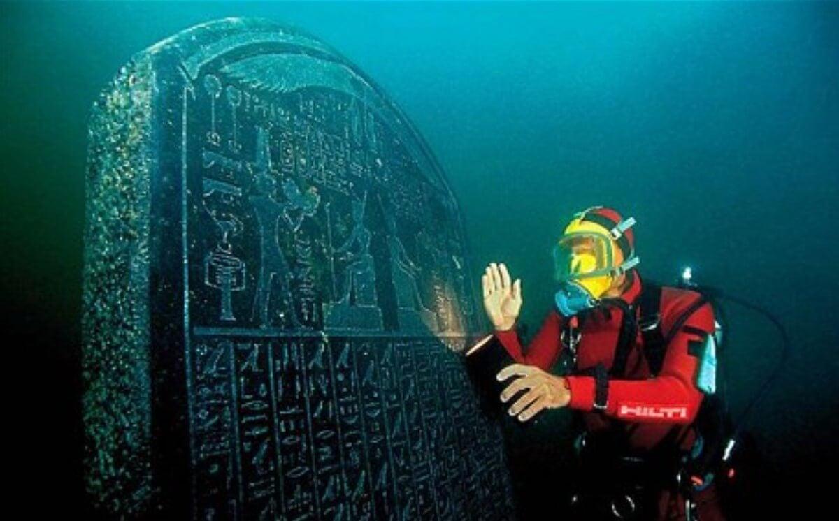 La piedra de Heracleion es uno de los grandes misterios de esta ciudad perdida.