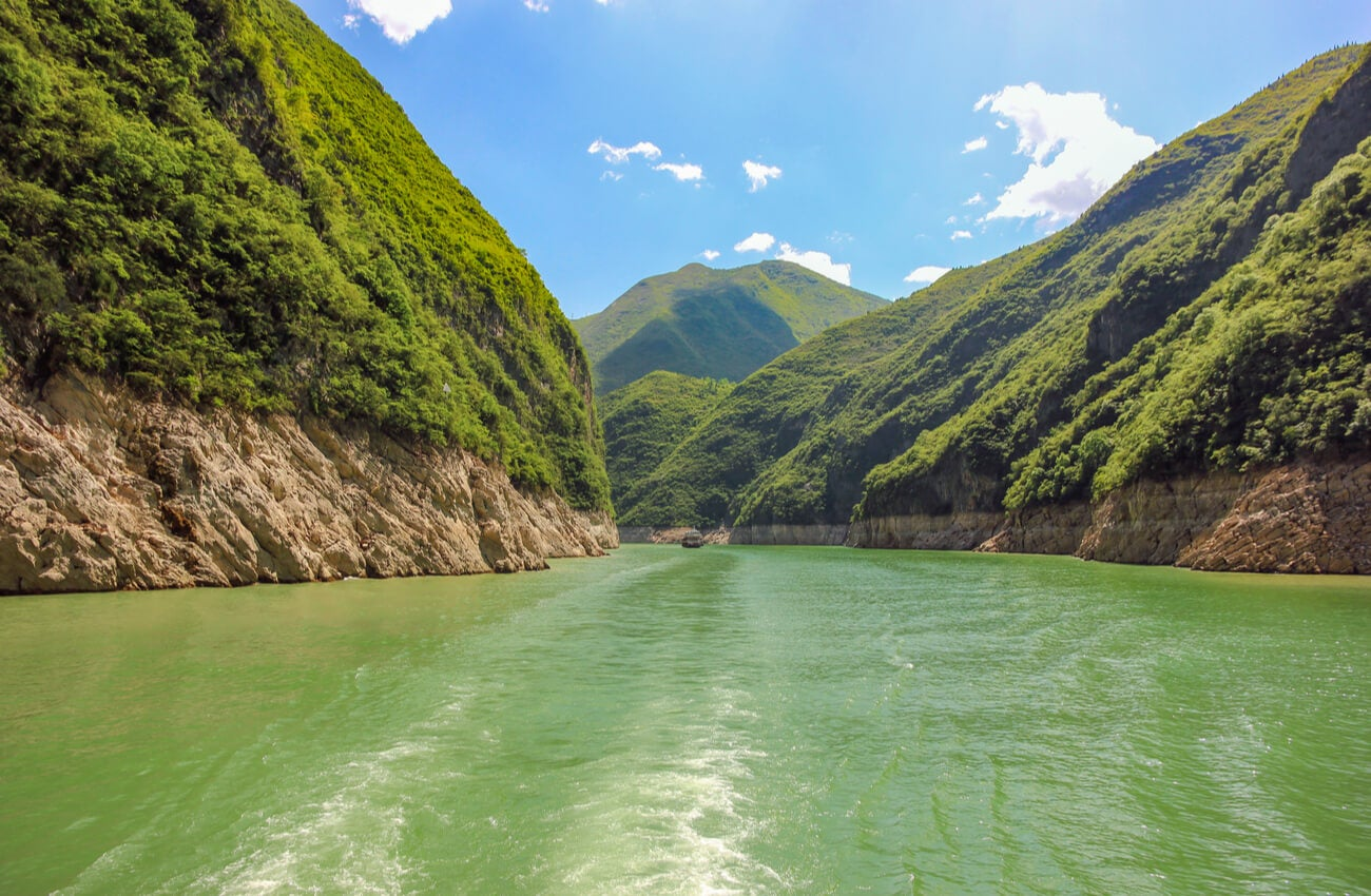 El río Yangste en China es uno de los más caudalosos del mundo.