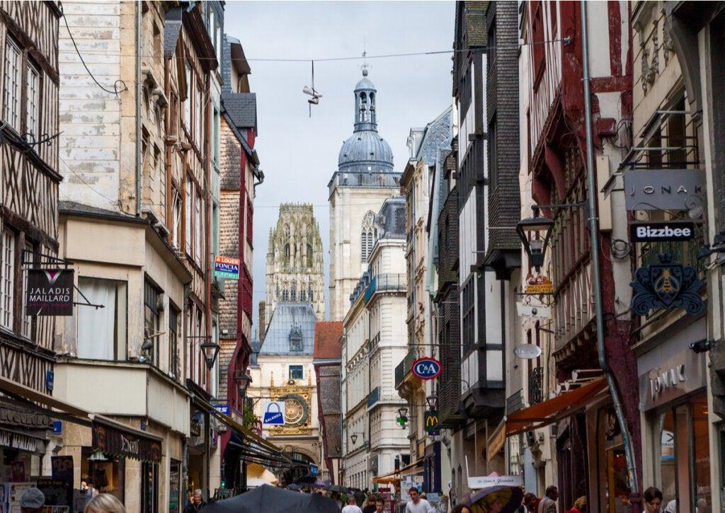 La ciudad de Ruan es la capital de la región de Normandía.