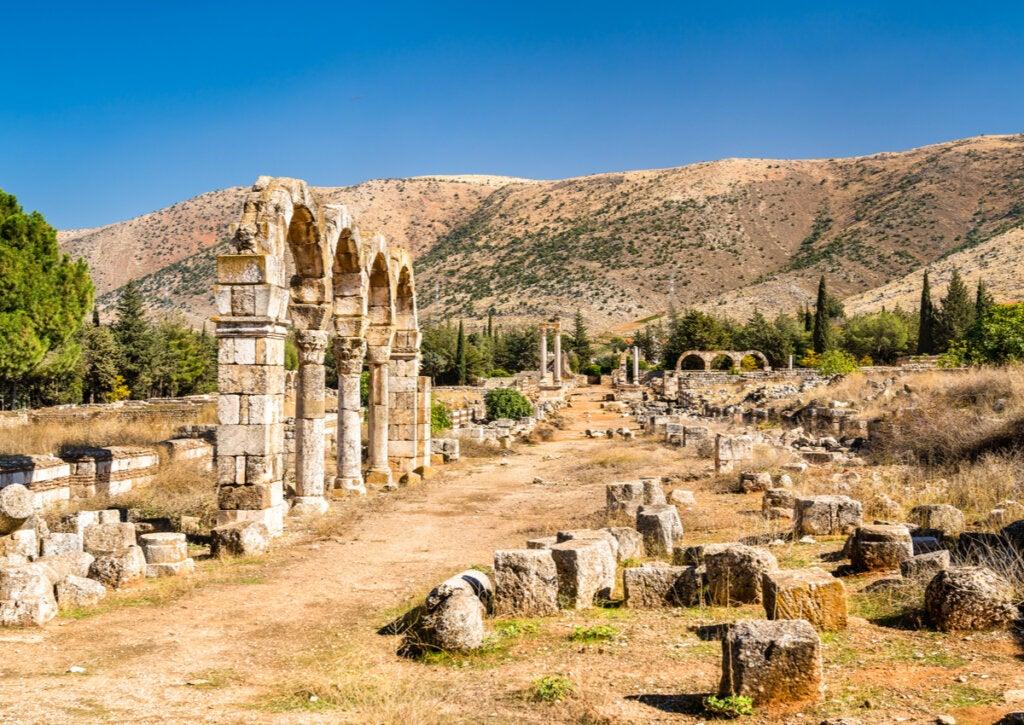 El acceso a la ciudad de Anjar se hacía a través de cuatro puertas.