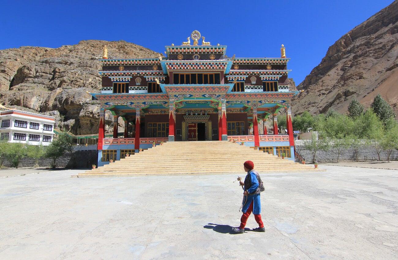 El templo Tangyud Gompa, el monasterio más alto del mundo.