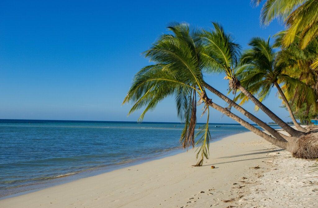Una de las características de Walakiri Beach es que esta playa presenta dos tipos de arena.