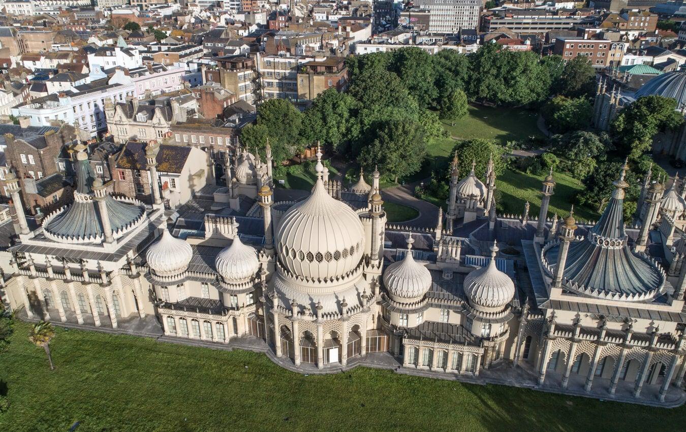 Vista aérea del Royal Pavilion de Brighton.