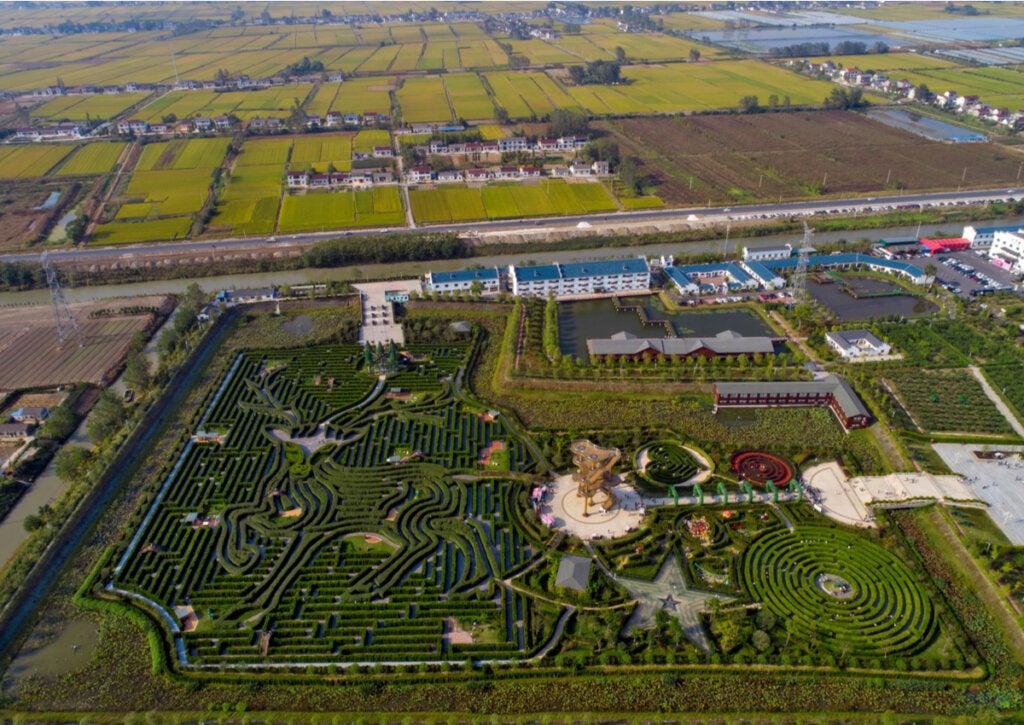 Vista panorámica del Yancheng Dafeng Dream en China.