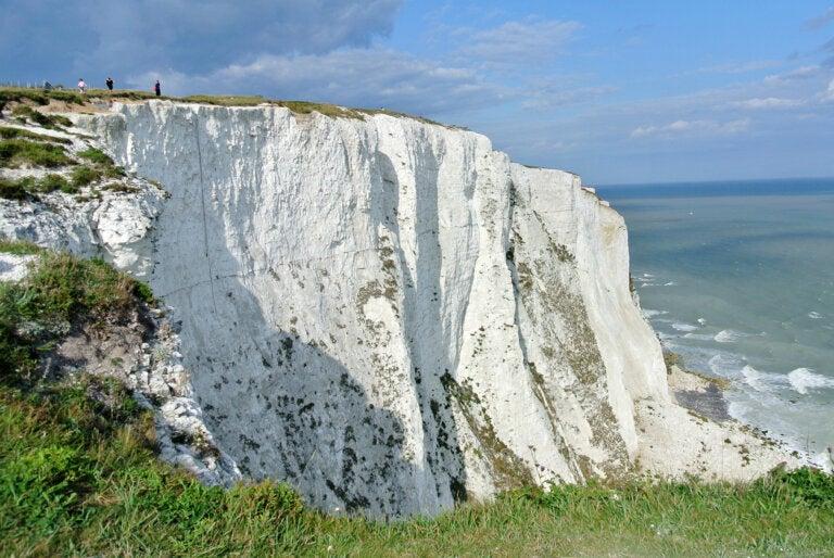 Los acantilados de Dover y su particular color blanco
