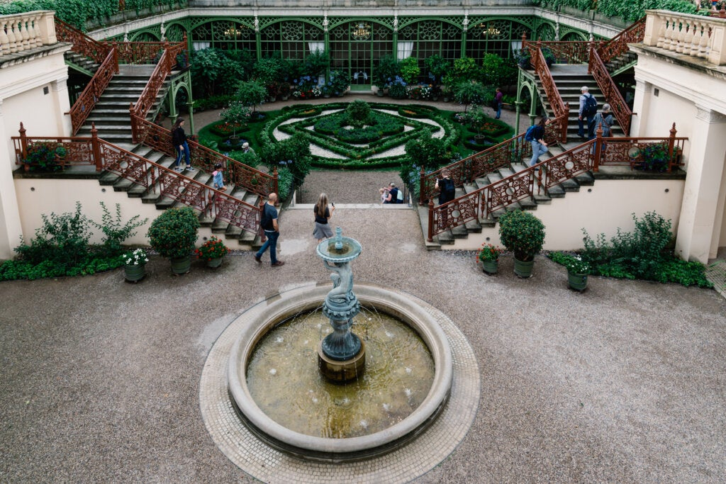 Los jardines del Palacio de Schwerin son particularmente bellos.
