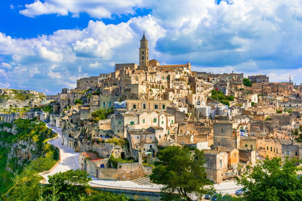 Matera es una de las ciudades distintivas de Italia.