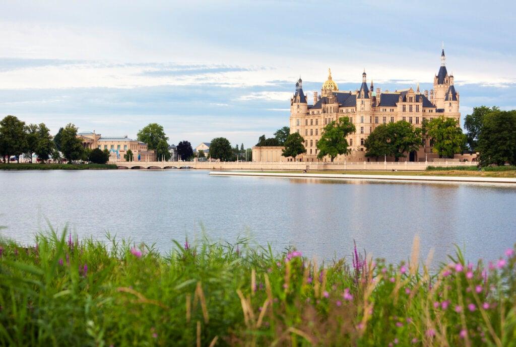 Vista panorámica del Castillo de Schwerin.