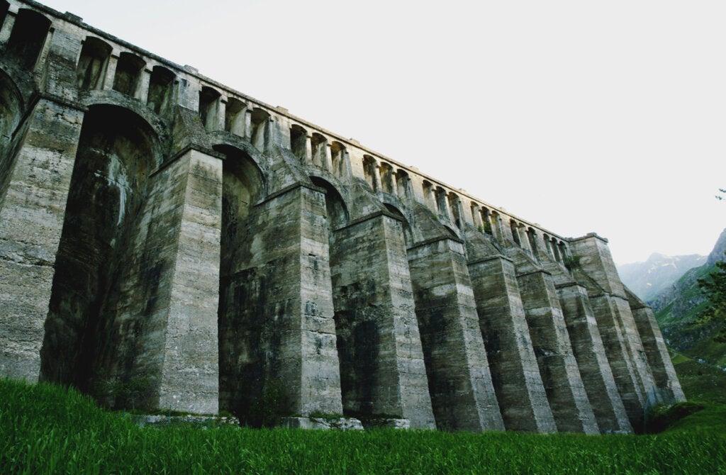 Las ruinas de la presa de Gleno en Lombardía