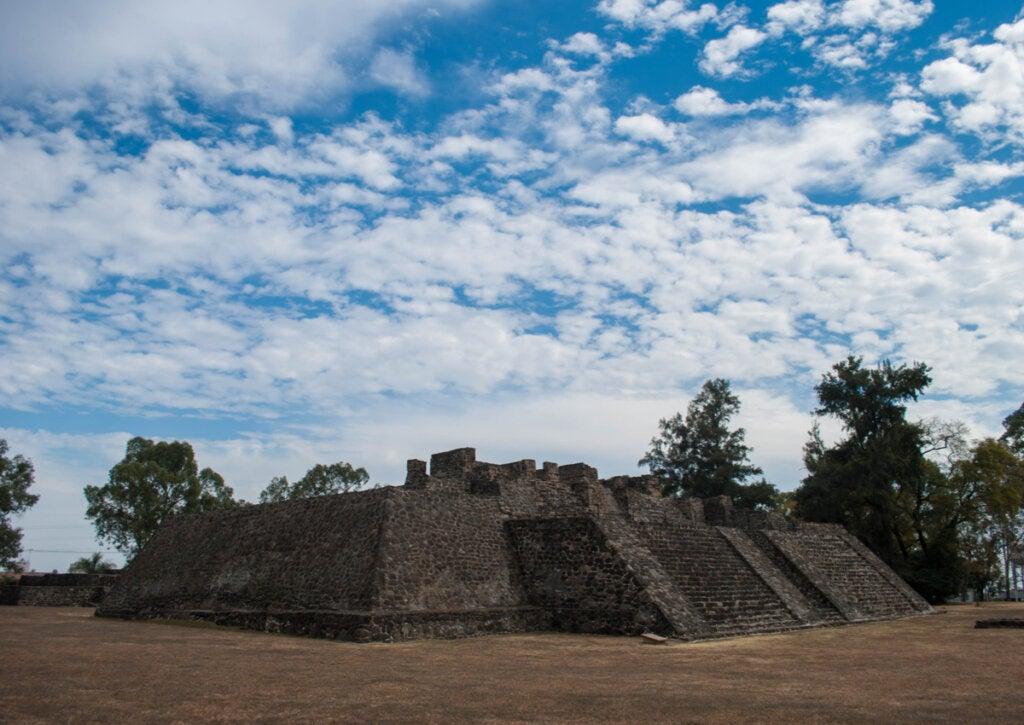 Las ruinas de Teopanzolco en México están casi destruidas.