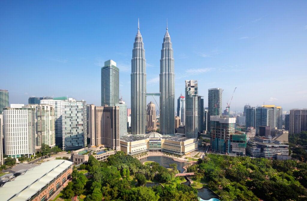 Las Torres Petronas, consideradas entre los mejores rascacielos del mundo.