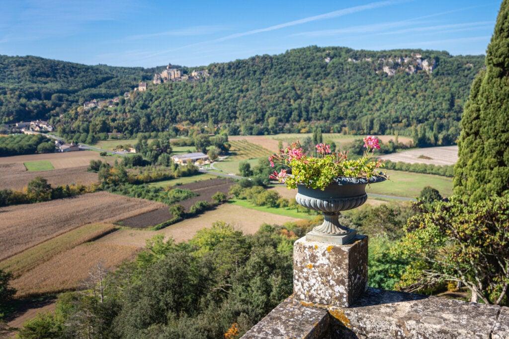 El valle de la Dordogna observado desde los jardines de Marqueyssac.