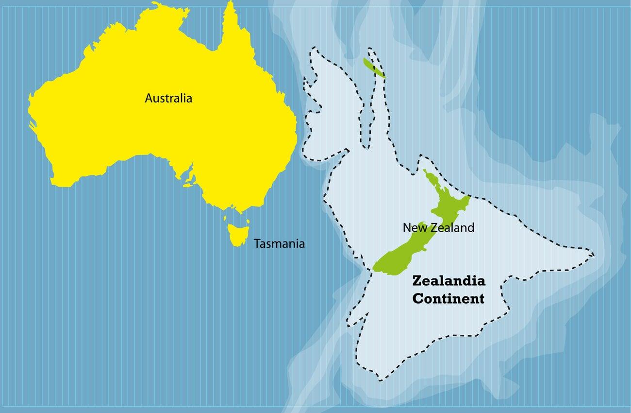 Zealandia es un continente sumergido que se descubrió hace pocos años.