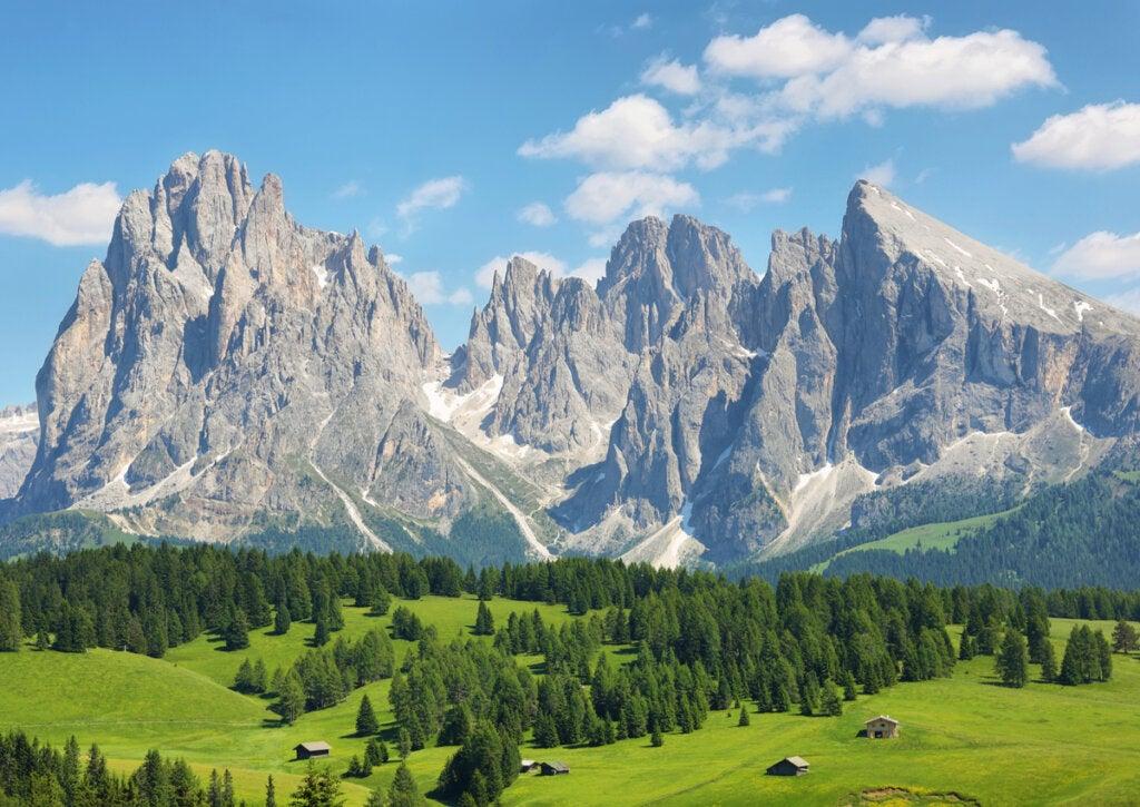 Las Dolomitas, un paisaje único en los Alpes Italianos.