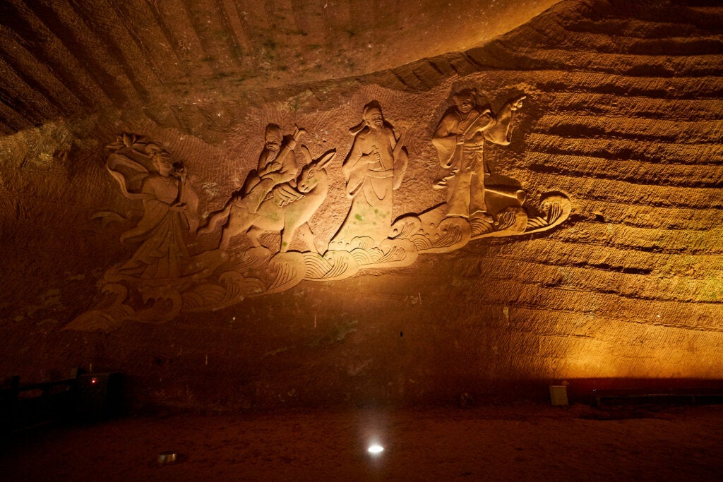 Figuras en las paredes de las cuevas de Longyou.