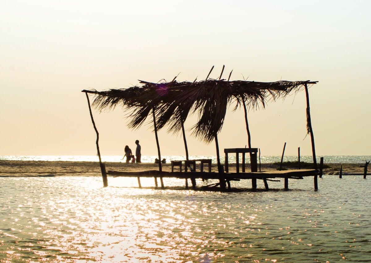 Las playas de Campeche ofrecen paisajes realmente fabulosos.