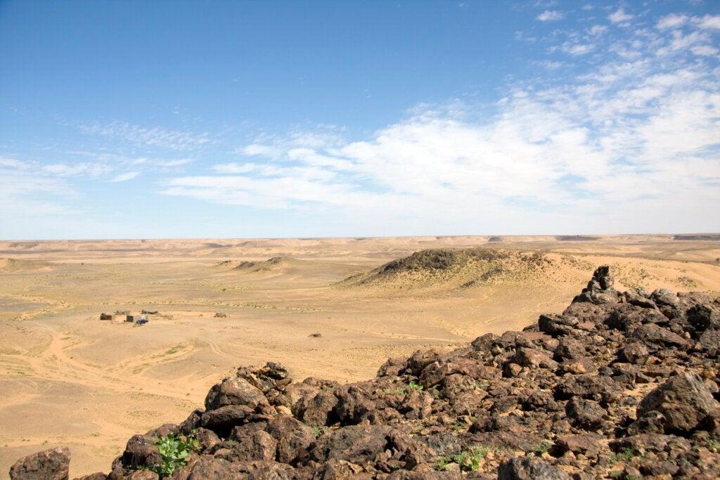 El centro del ojo del Sahara, una estructura con enigmas.