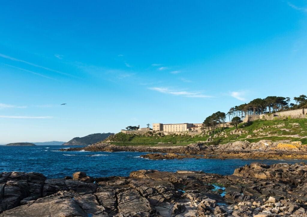 El parador de Baiona, ubicado en las costas de Galicia.