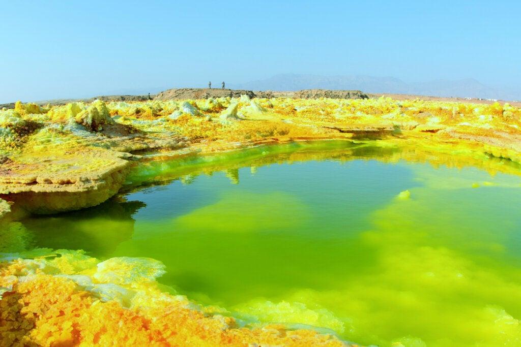 La depresión de Afar presenta paisajes y colores realmente increíbles.