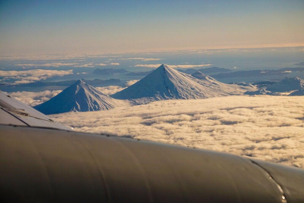 Las islas de los Cuatro Volcanes, en Alaska.